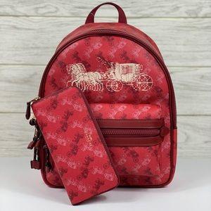 ❤️Coach Medium Backpack & Wallet Set